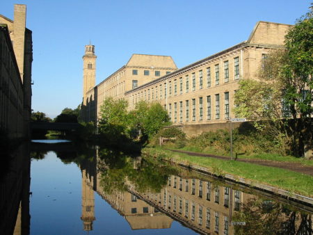 Saltaire from Leeds Liverpool Canal