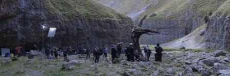 Jonathan Strange & Mr. Norrell film crew behind the scenes at Gordale Scar Malham Cove
