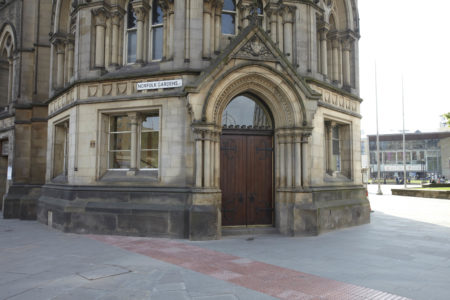 Entrance at City Hall, Bradford