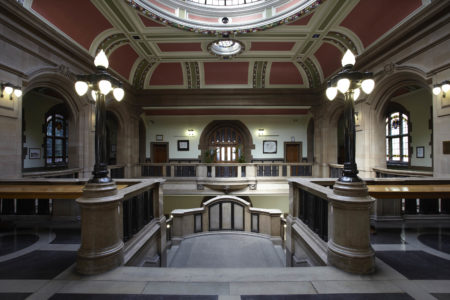 First floor balcony, City Hall, Bradford