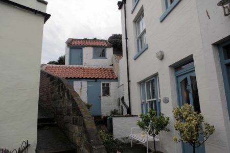 Staithes White Houses Red Roofs
