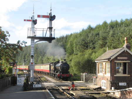 Arriving at Levisham Station - Philip Benham v3