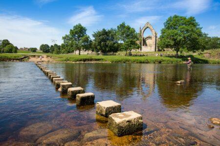 fisherman, stepping stones, priory 2