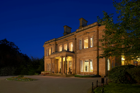 Oulton Hall Front Outside at night