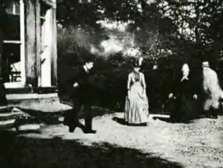 A still from the world's first film! Louis Le Prince's Roundhay Garden Scene, Leeds (1888)