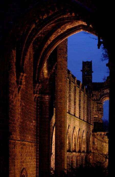 NIGHT KIRKSTALL Abbey
