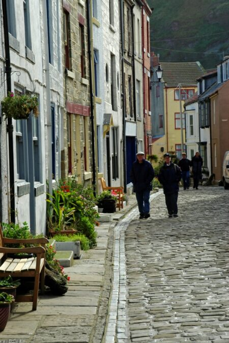 Staithes street scene photo by Mike Kipling